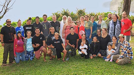 UHIP faculty and graduate students participate in a writing retreat with University of Victoria faculty as well as members of the Hāmākua community at Koholālele.
