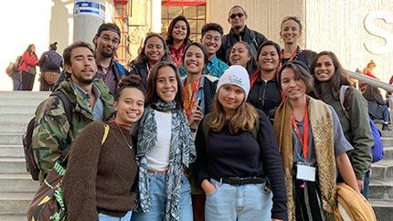 Mānoa Academy students and teaching assistants attend the NAISA conference in Hamilton, Aotearoa/New Zealand.
