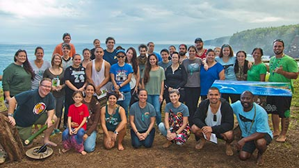 UHIP faculty and students participate in an exchange with University of Victoria Indigenous Governance students on Hawaiʻi Island.